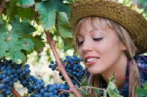 Ragazza ed uva