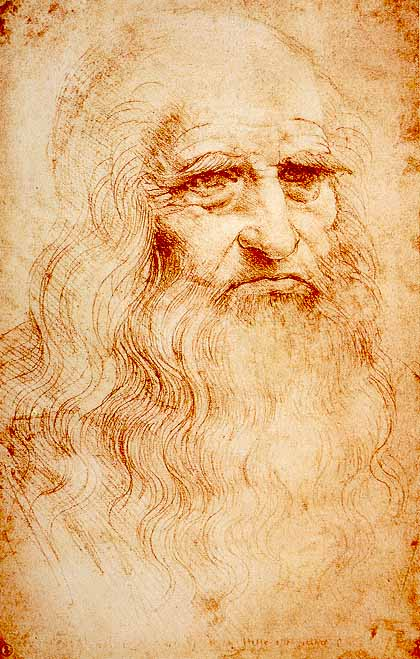 Leonardo da Vinci: Autoritratto (1513 circa), Torino, Biblioteca Reale