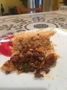 Bomba di riso impiattare