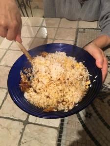 Bomba di riso preparazione riso